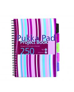 A4 Project Book - 5 subjects 250 pages Pukka Pad
