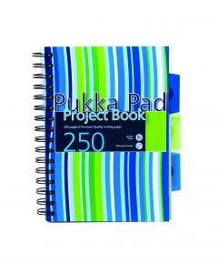 A5 Project Book - 3 subjects 250 pages Pukka Pad