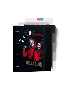 4 Ring Binder with 5 Dividers and 100 A4 sheets La Casa de Papel