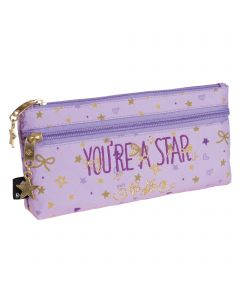 BUSQUETS  Pencil case double zip  STAR  21,0 x 10,0 x 5,0 cm