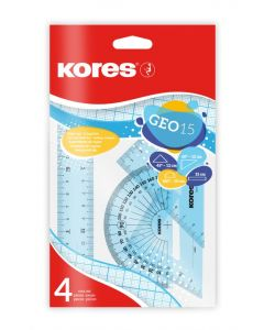 Kores GEO15, 15cm Geometrico Kit small plastic