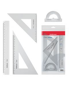 Geometry set CLEAR, (1 pcs in polybag)