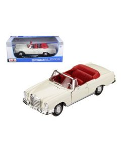 Miniatures 1967 Mercedes Benz 280 SE Convertible Cream