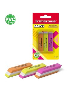 Eraser ErichKrause Drive(3 pcs in blister)