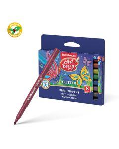Fibre-tip pens ArtBerry Glitter Easy Washable set of 8 colors
