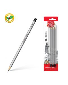 Graphite hexagonal pencil ArtBerry H,HB,B(3 pcs in blister)