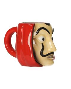 MUG 3D LA CASA DE PAPEL MASK 350ML