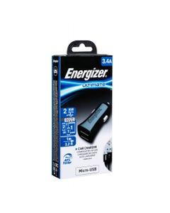ENERGIZER CAR CHARGER 3.4A 2USB +MICROUSB CABLE BLACK/ DCA2CUMC3